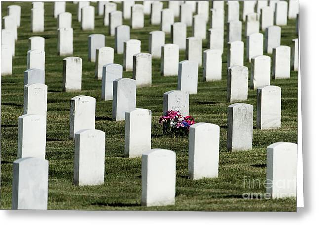 Arlington Greeting Cards - Respect and Remember Greeting Card by John Greim