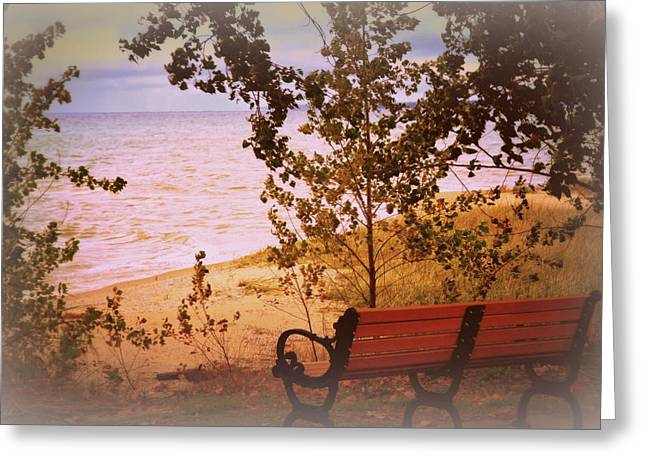 Elk Rapids Greeting Cards - Rest Awhile Greeting Card by Toni Abdnour