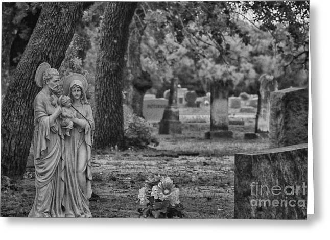 Rest In Peace Greeting Cards - Rest in Peace-Black and White Greeting Card by Douglas Barnard