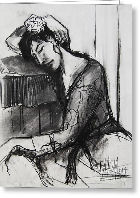 Rest - Pia #8 - Figure Series Greeting Card by Mona Edulesco