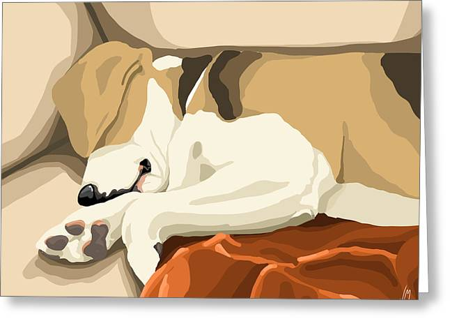 Beagle Greeting Cards - Rest Greeting Card by Veronica Minozzi