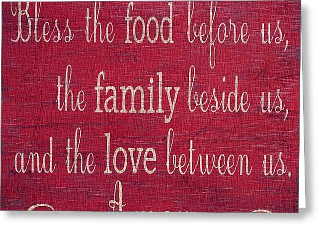 Owner Greeting Cards - Restaurant Blessing In Red Greeting Card by Dan Sproul