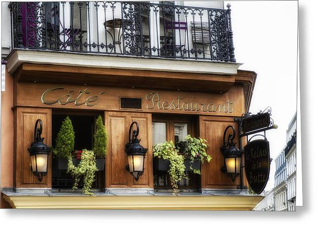 European Restaurant Greeting Cards - Restaurant in Paris Greeting Card by Nomad Art And  Design