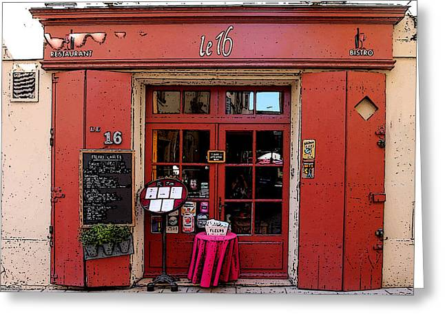 Menu Greeting Cards - Restaurant in Provence Greeting Card by Catherine Arnas