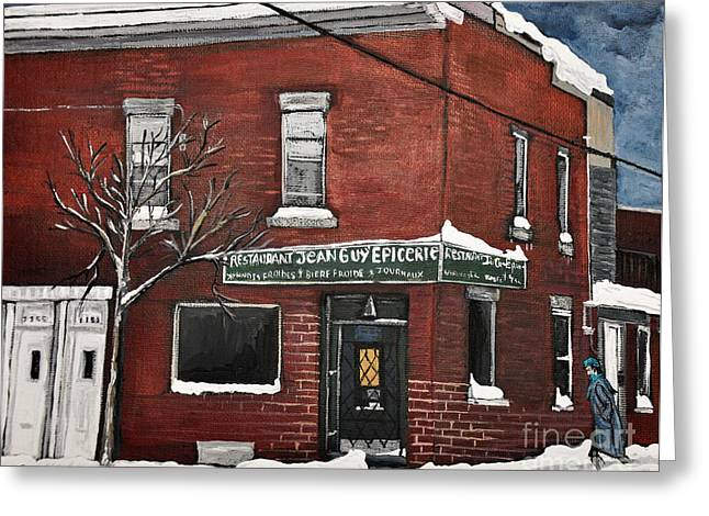 Restaurant Jean Guy  Pte. St. Charles Greeting Card by Reb Frost