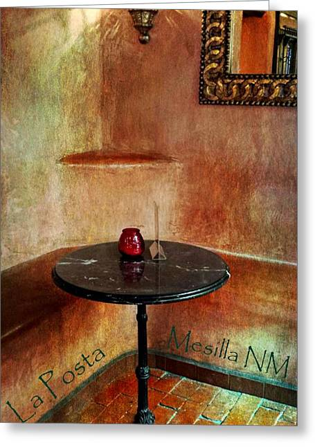 Las Cruces Digital Art Greeting Cards - Restaurante La Posta Greeting Card by Barbara Chichester
