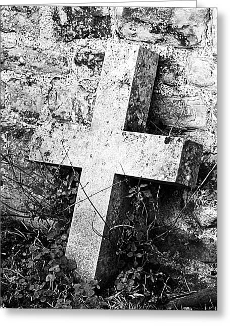Headstones Greeting Cards - Rested Greeting Card by Sharon Lisa Clarke