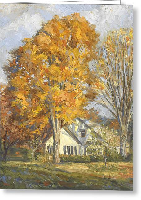 Scenery Greeting Cards - Restful Autumn Greeting Card by Lucie Bilodeau