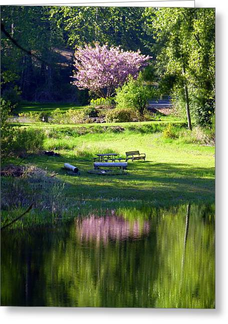 Restful Place Greeting Card by Lori Seaman