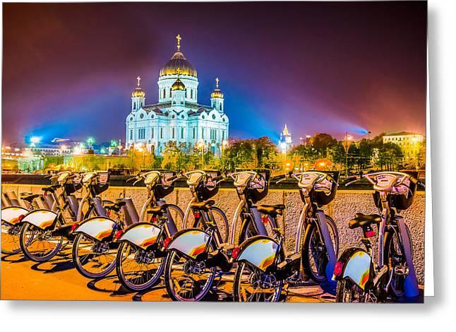 Cupola Greeting Cards - Resting Bikes Greeting Card by Alexander Senin