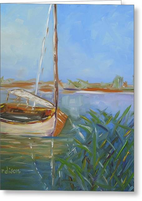 Sailboat Ocean Greeting Cards - Resting Greeting Card by Josephine Hardison