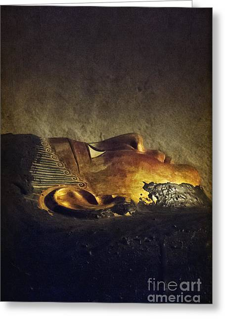 Egyptian Sarcophagus Greeting Cards - Resting Place Greeting Card by Margie Hurwich