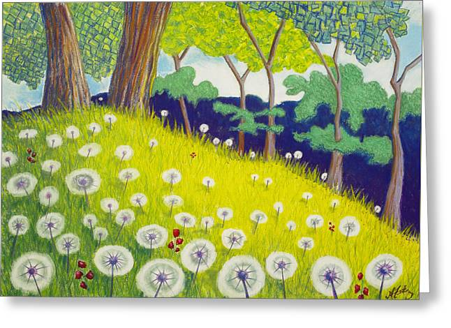 Picnic Pastels Greeting Cards - Resting Place Greeting Card by Michele Fritz