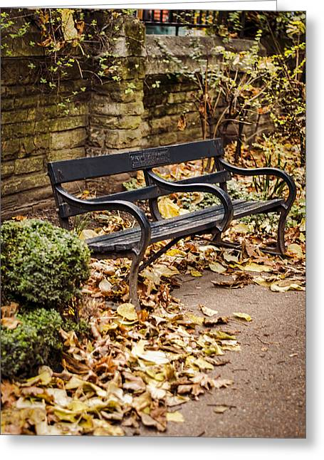 Park Benches Greeting Cards - Resting Spot Greeting Card by Heather Applegate