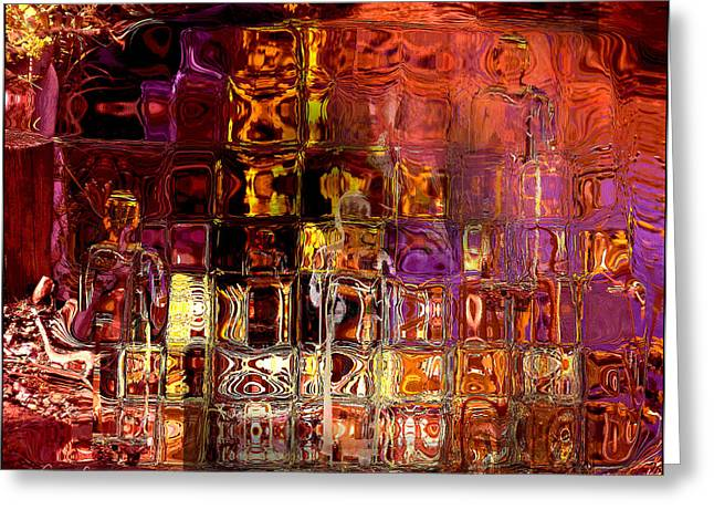 Shades Of Red Greeting Cards - Restless Mind Greeting Card by Sabine Stetson