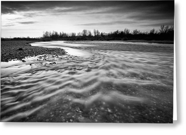 Restless river III Greeting Card by Davorin Mance