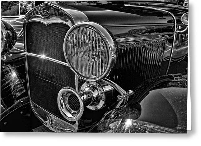 Ron Roberts Photography Framed Prints Greeting Cards - Restored 1930 ford Sedan Greeting Card by Ron Roberts