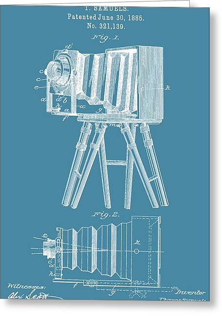 First-class Mixed Media Greeting Cards - Restored Camera Patent Greeting Card by Dan Sproul