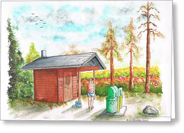 Architecrure Greeting Cards - Restroom in Yosemite National Park - California Greeting Card by Carlos G Groppa