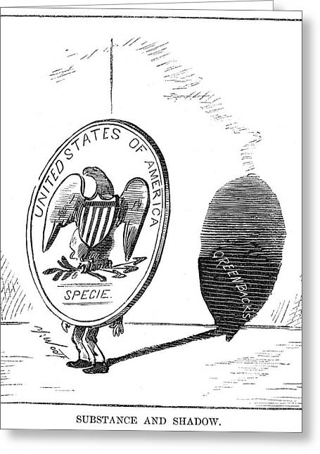 Resumption Act Cartoon Greeting Card by Granger