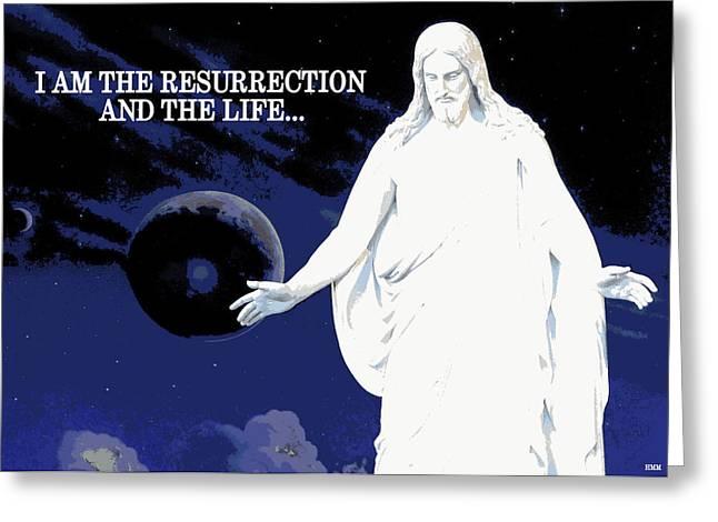 Christus Greeting Cards - Resurrected Christus Greeting Card by Heidi Manly