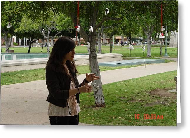 resurrected love reclamation with interactive participant Tanya Basmadjian  Greeting Card by Kenneth James