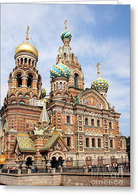 Resurrection Church - St Petersburg Russia Greeting Card by Christiane Schulze Art And Photography