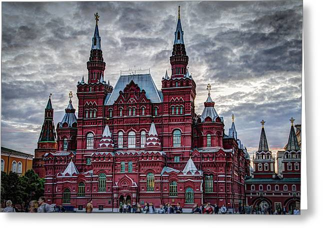 Resurrection Gate And Iberian Chapel - Red Square - Moscow Russia Greeting Card by Jon Berghoff