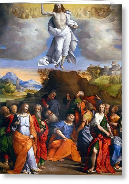 Resurrection  Greeting Card by Munir Alawi