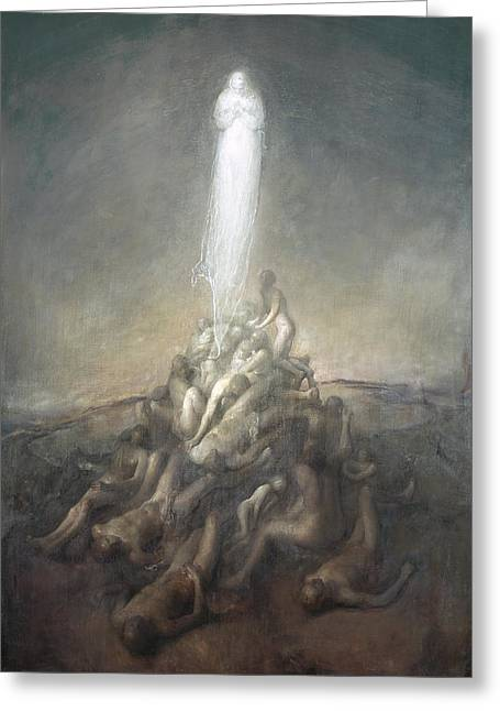 Resurrection Greeting Card by Odd Nerdrum