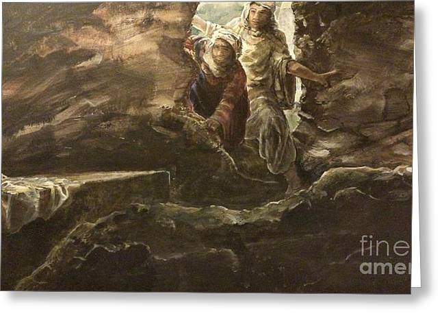 Resurrected Lord Paintings Greeting Cards - Resurrection Sunday Greeting Card by J Anthony Shuff