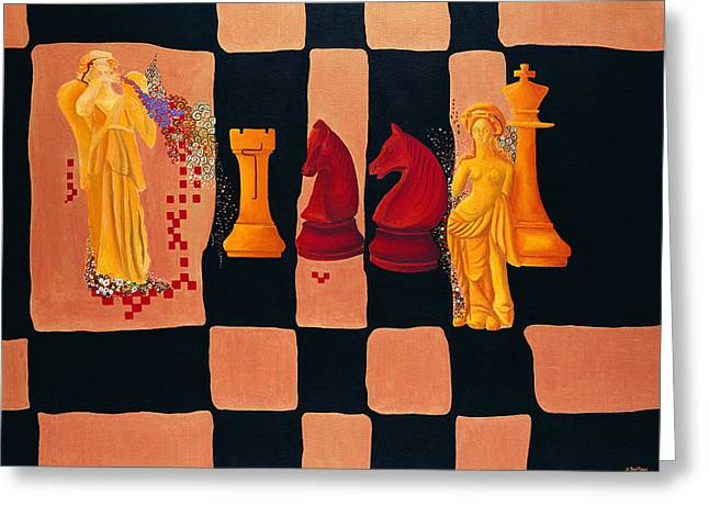A Game Of Chess Greeting Cards - Reti-Aliekhine Greeting Card by Nicolas Sphicas