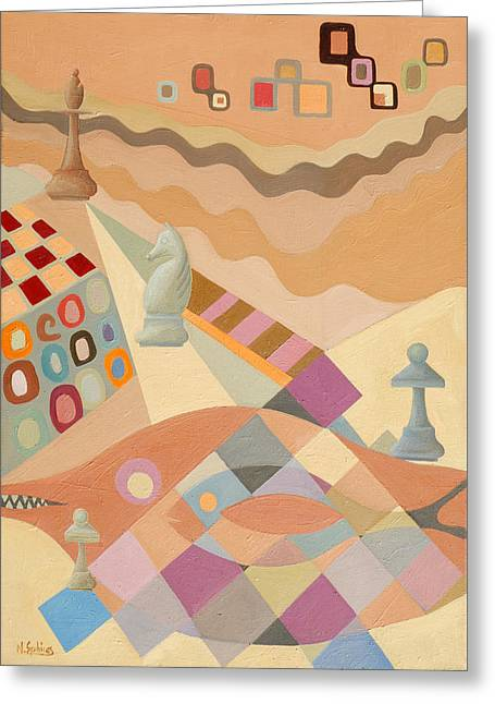 A Game Of Chess Greeting Cards - Reti-E. Straat Greeting Card by Nicolas Sphicas