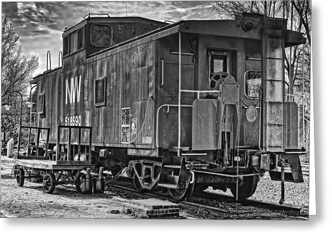 Rail Siding Greeting Cards - Retired Caboose Greeting Card by Boyd Alexander
