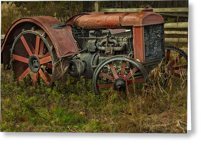Agronomy Greeting Cards - Retired Fordson Tractor Greeting Card by Susan Candelario
