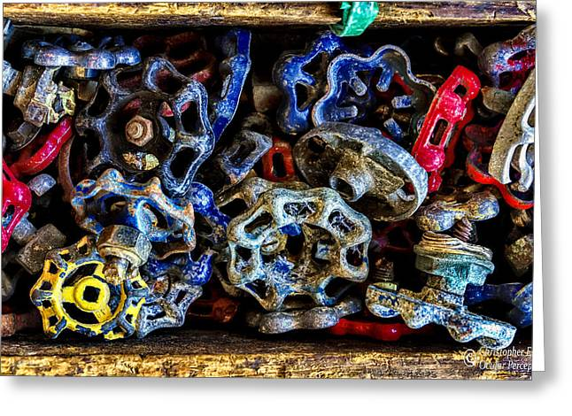 Retired Knobs Greeting Card by Christopher Holmes