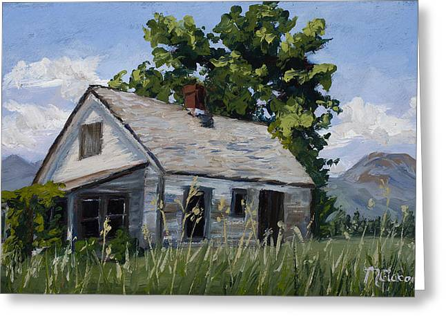 Abandoned House Paintings Greeting Cards - Retired Greeting Card by Mary Giacomini