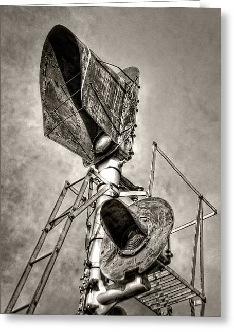 Western Tie Greeting Cards - Retired Signals Greeting Card by Ken Smith