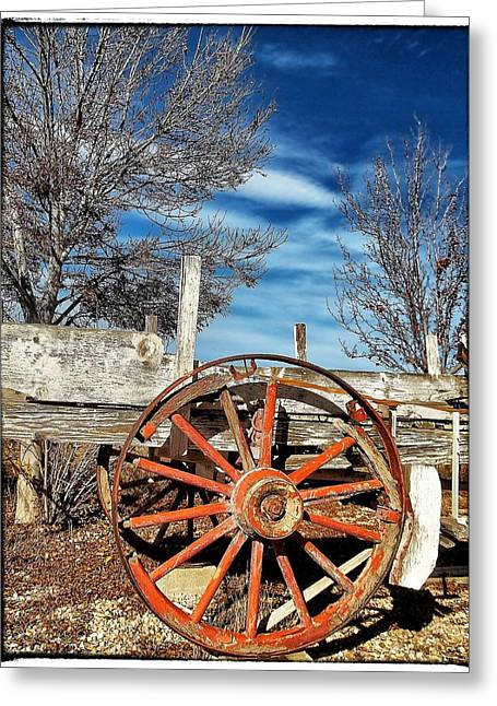 Old Wagon Greeting Cards - Retirement Blues - U S 395 California Greeting Card by Glenn McCarthy Art and Photography