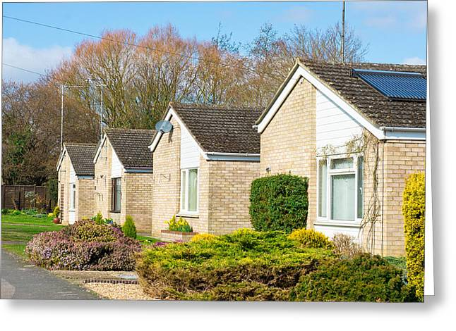 Spring Street Greeting Cards - Retirement bungalows Greeting Card by Tom Gowanlock
