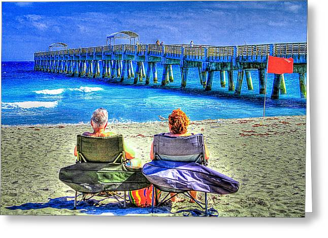 Sunbathing Greeting Cards - Retirement Greeting Card by Debra and Dave Vanderlaan