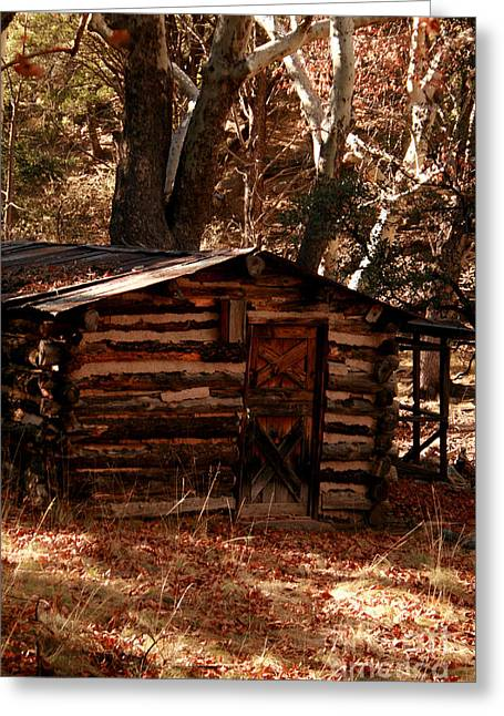 Log Cabin Interiors Digital Art Greeting Cards - Retirement Home Greeting Card by M and L Creations