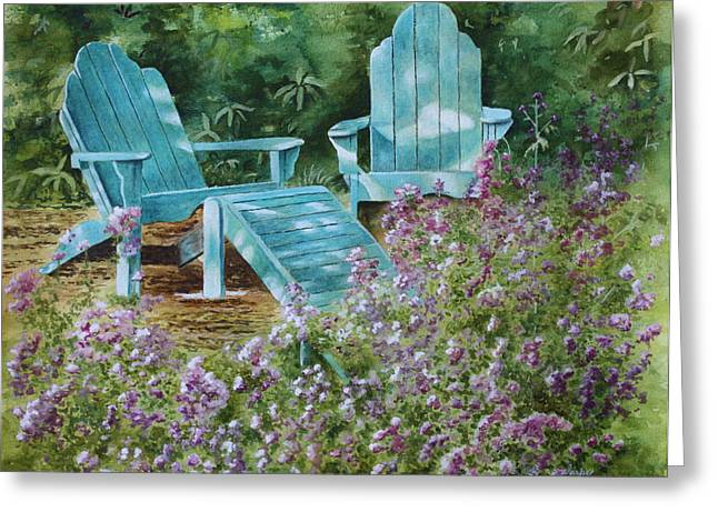 Patsy Sharpe Paintings Greeting Cards - Retirement II Greeting Card by Patsy Sharpe