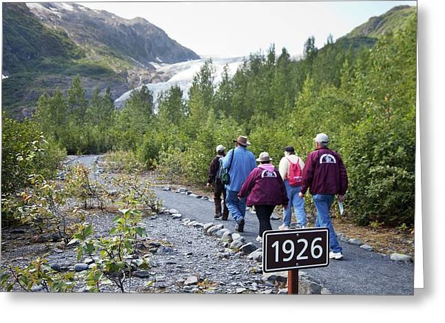 Retreat Of Exit Glacier Greeting Card by Jim West