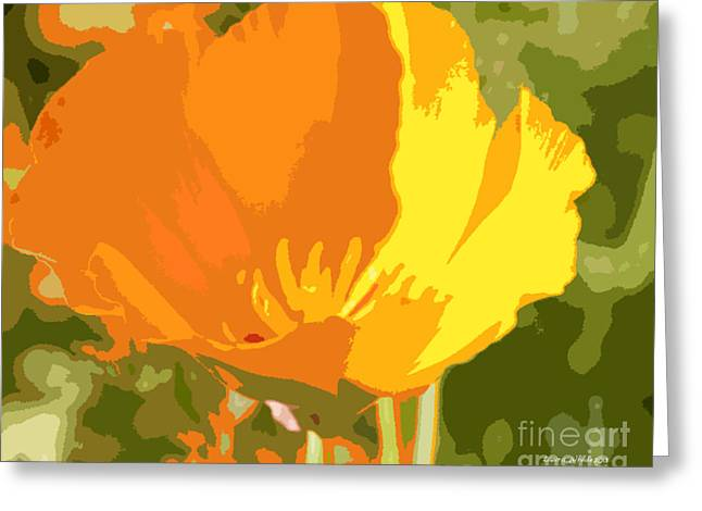 Most Viewed Photographs Greeting Cards - Retro Abstract Poppies 2 Greeting Card by Artist and Photographer Laura Wrede