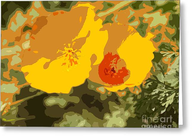 Most Viewed Photographs Greeting Cards - Retro Abstract Poppies 3 Greeting Card by Artist and Photographer Laura Wrede