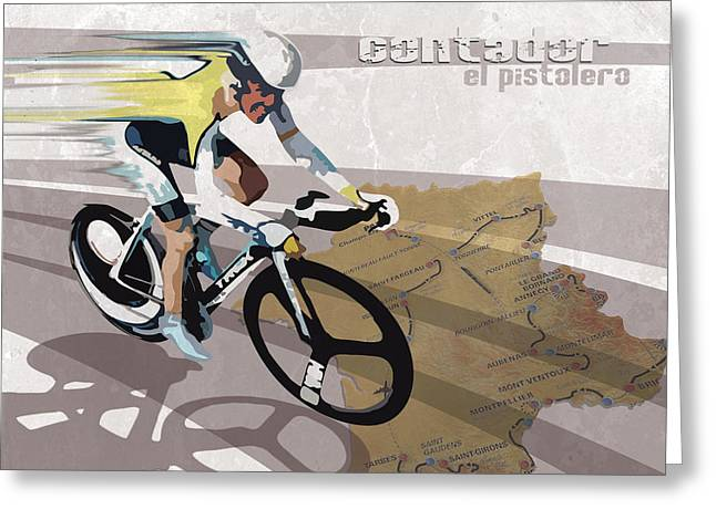 Motivational Poster Greeting Cards - Retro Contador Poster El Pistolero Greeting Card by Sassan Filsoof