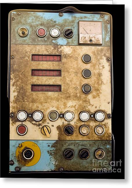 Technical Photographs Greeting Cards - Retro control panel Greeting Card by Sinisa Botas