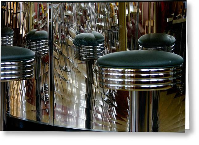 Paul Wash Greeting Cards - Retro Diner Greeting Card by Paul Wash
