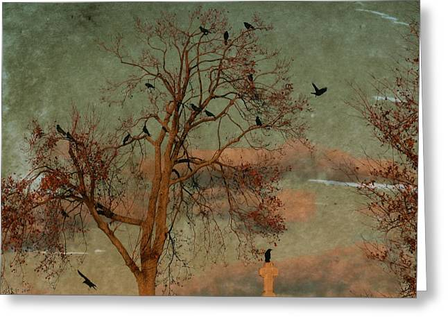 Lomo Colors Greeting Cards - Retro Gothic Sky Greeting Card by Gothicolors Donna Snyder